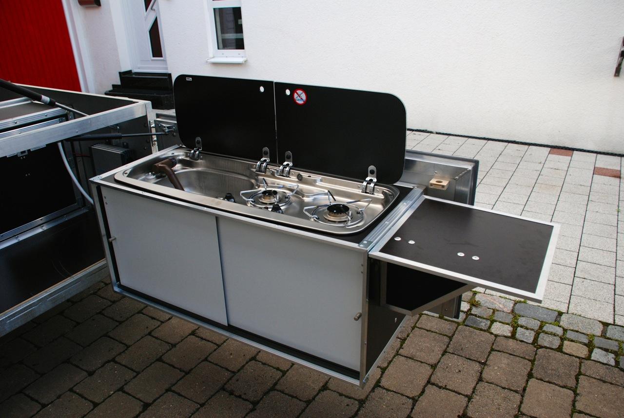 Falterladen Heckküche für Zeltanhänger